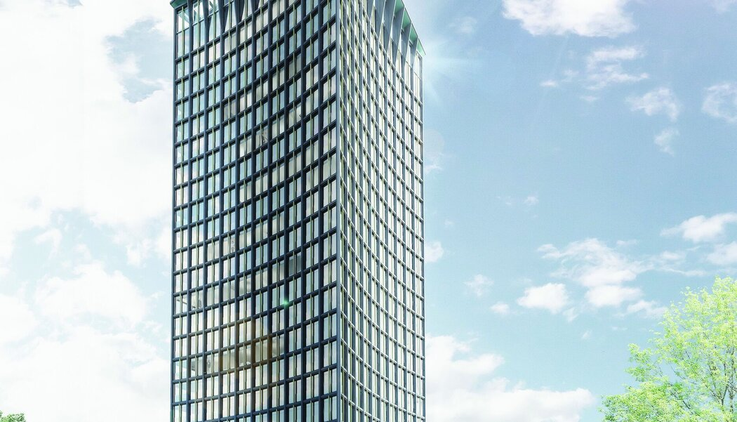 CW 65-EF Curtain Walls - Apartmentcomplex Ceres Tower located in Switzerland