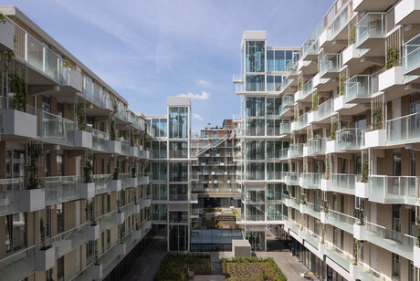 SlimLine 38 Windows, CS 77 Doors, CP 130 (-LS) Sliding Systems and CW 50 Curtain Walls - Fenix I Rotterdam located in Rotselaar, the Netherlands