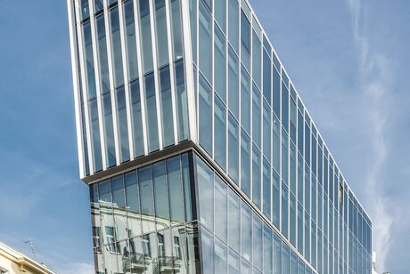 CW 50-HI Curtain Walls and CP 155 (-LS) Sliding Systems - Office building The Nest located in Waddinxveen, Poland