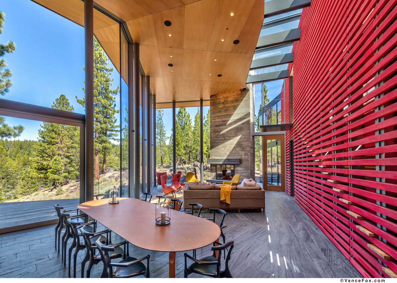 SlimLine 38 Windows, SlimLine 38 Doors, CP 155 (-LS) Sliding Systems, CW 50 Curtain Walls and Mosquito Complementary Systems - House Martis Camp located in Truckee, CA, United States of America